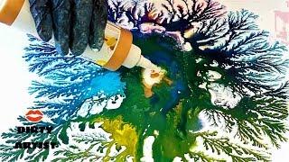 FRACTAL ART - DIRTY DENDRITES DUMP TEST! - Acrylic Pouring, Fluid Art, Inks, High Flow Gold