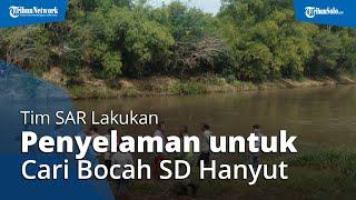Tim SAR Lakukan Penyelaman untuk Cari Bocah SD Hanyut di Sungai Bengawan Solo