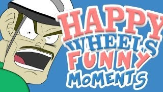 HAPPY WHEELS  FUNNY MOMENTS MONTAGE