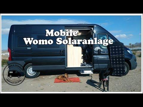 Mobile Wohnmobil Solaranlage - Solartasche - Solar autark