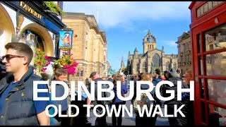 [4K] Edinburgh, Scotland (2019) Castle To High Street Walking Tour