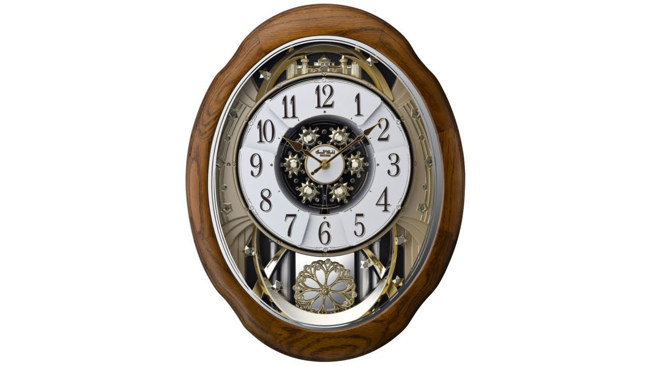"Joyful Meditation Oak 21"" High Motion Wall Clock"