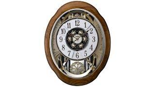 Joyful Meditation Oak Motion Wall Clock