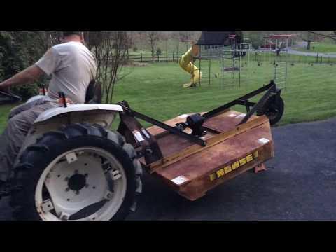 Bolens Diesel G152 tractor running woods 48 mower - смотреть