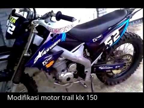 Video Modifikasi motor trail klx 150