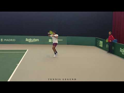 Félix Auger-Aliassime - Powerful and talented (Practice Davis Cup Finals 2019)