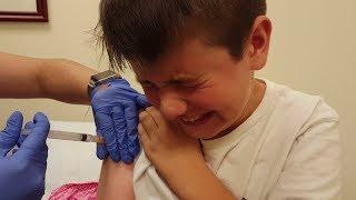Kid Temper Tantrum Gets A Flu Shot [ Original ]