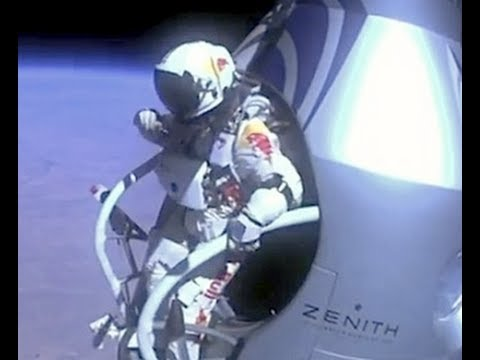Felix Baumgartner breaks the sound barrier Exclusive Helmet-Cam. Video