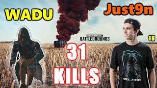 PUBG - Just9n, Wadu & Chuun - 31 KILLS  #SQUAD