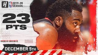 James Harden 23 Pts Full Highlights   Rockets vs Raptors   December 5, 2019