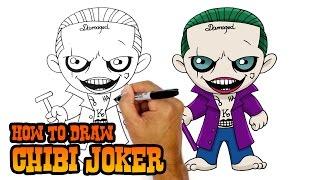 Смотреть онлайн Как нарисовать чиби Джокера поэтапно