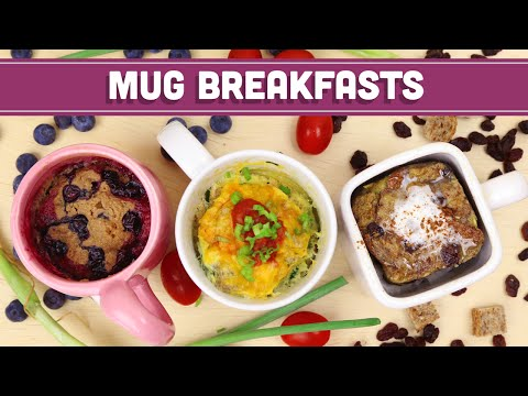 Video Microwave Mug Breakfasts! Healthy Back To School Ideas! Mind Over Munch