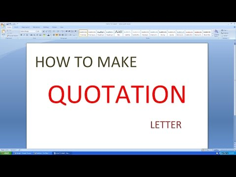 Download Microsoft Excel How To Make Quotation Letter In Full Hd