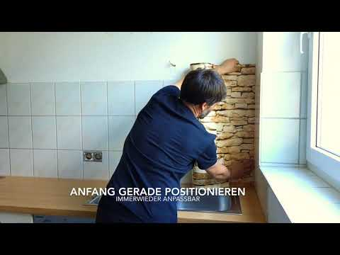 Küchenrückwand verkleben - druck-expert.com