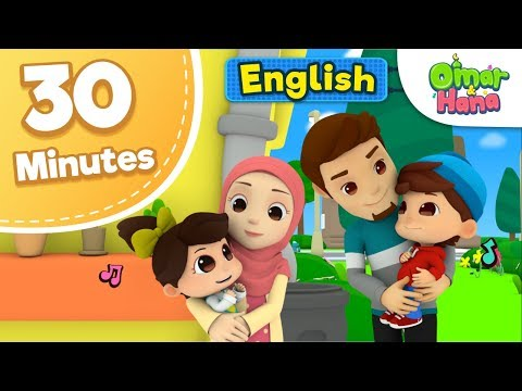 Omar & Hana 30 minutes Compilation | Islamic Cartoon For Kids | Nasheed for Children