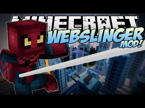 Minecraft | WEBSLINGER MOD! (Swing Through the City like Spiderman!) | Mod Showcase