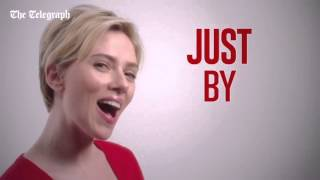 Scarlett Johansson sings in advert featuring Jimmy Kimmel and Barry Manilow