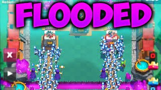 Clash Royale – 'FLOODING THE ENEMY!!' Ultimate MASS Deck!! (Clash Royale Funny Moments + Wins!!)
