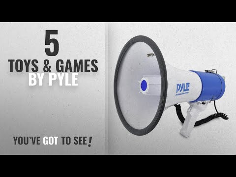 Top 10 Pyle Toys & Games [2018]: Pyle Megaphone Speaker PA Bullhorn with Built-in Siren - 50 Watts