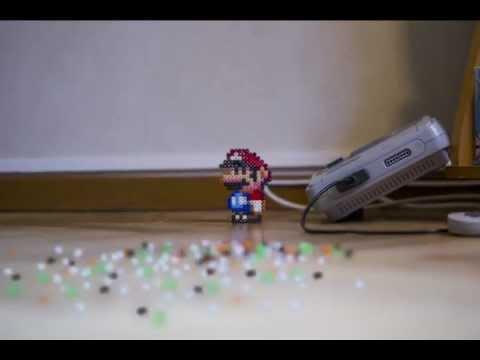 Mario's Suburban Adventure As A Beaded Sprite