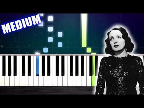 Edith Piaf - Non, Je ne regrette rien - Piano Tutorial by PlutaX