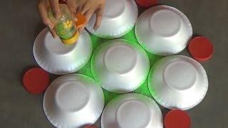 Very easy rangoli designs with bowls // Innovative rangoli //paper bowls art //creative Alpana