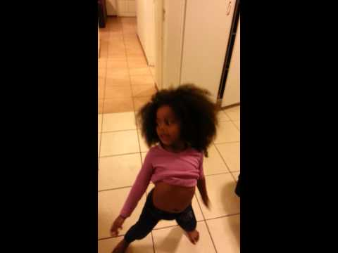 3 year old twerking..so funny