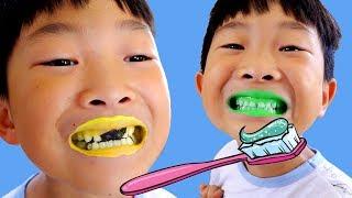 예준이안에 천사와 귀여운 앙마가 있어요! 치카치카 양치질 바른생활 손씻기 놀이 Toothbrush Hand Wash Funny Video for Kids