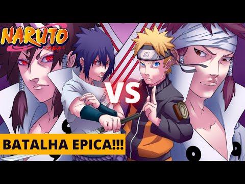 Naruto MUGEN Battle Climax - Naruto e Sasuke vs Indra e Ashura [Gameplay PC]