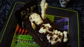 Easy Dealicious And Spooky Apple Sauce Brownies For Halloween, Recipe