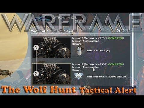 Warframe - The Wolf Hunt: Tactical Alert