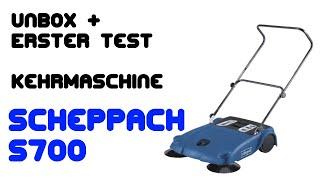 Unbox Montage und Test Kehrmaschine Scheppach S700