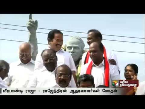 Clash-between-two-groups-of-DMK-cadres-in-Salem