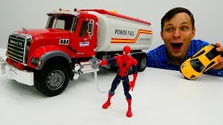 Кто украл Бензин? ⛽ #ЧеловекПаук и Фёдор в Видео #промашинки Игры для мальчиков #супергерои