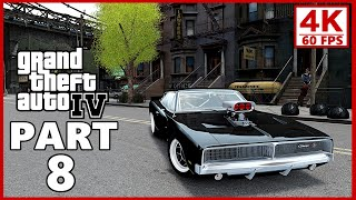 Grand Theft Auto 4 4K Gameplay Walkthrough Part 8 - GTA 4 4K 60fps
