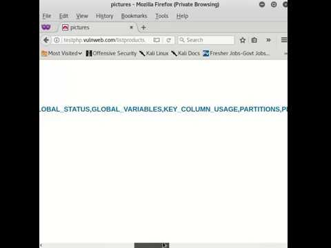 SQL Injection without Software Tools | Manual