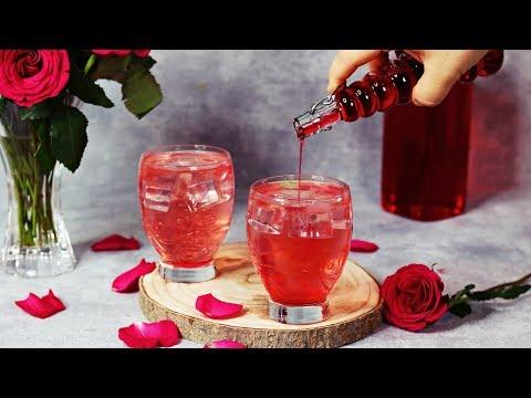 Rosensirup ganz einfach selber machen - Rosensirup Rezept  - Rose syrup recipe - Rose syrup drink