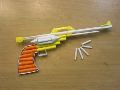 How to Make a Paper Gun that shoots - Easy Paper Pistol Tutorials
