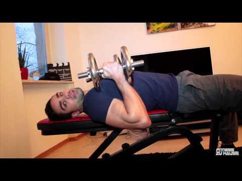 Fitnesstraining mit der Hantelbank
