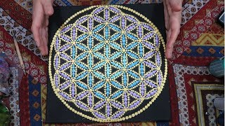 How To Paint Dot Mandalas Sacred Geometry Flower Of Life Stencil