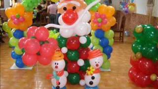Curso de Decoracion Artistica con Globos de Navidad