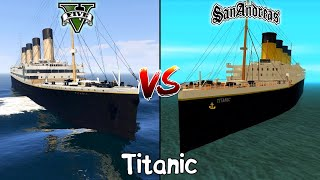 GTA 5 TITANIC VS GTA SAN ANDREAS TITANIC - WHICH IS BEST?