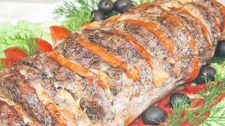 Свинина, запеченная в духовке с помидорами и сыром «Гармошка», вкусный рецепт мяса в фольге!