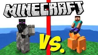 ЭНДЕРМЕНЫ ИЗ ГЛИНЫ ПРОТИВ АРМИИ ХИРОБРИНА (Epic Clay Soldiers Battle) Minecraft #7