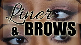 How To: Easy Winged Liner and Brows