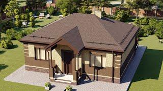 Проект дома 083-A, Площадь дома: 83 м2, Размер дома:  11,2x9,6 м
