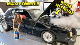 MIMI'S FIRST DYNO DAY! WE PUSHED HER PASSED HER LIMITS WITH MORE NITROUS THAN SHE COULD TAKE...