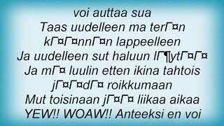 Apulanta - En Voi Auttaa Lyrics