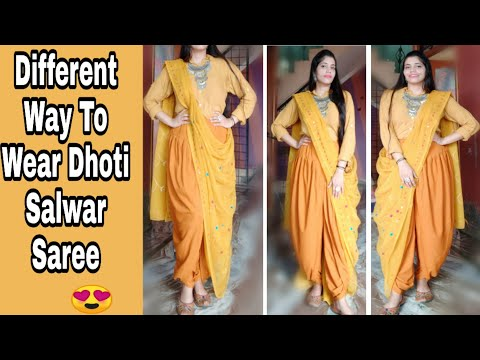 Dhoti Saree Draping Inspired By Shilpa Shetty|How to wear saree in different way| NeshaFashion