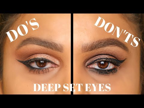 DEEP SET EYES DO'S AND DON'TS | MAKEUP, EYESHADOW & WINGED EYELINER FOR DEEP SET EYES